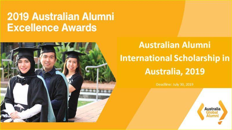 Australian Alumni International Scholarship in Australia 2019