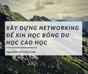 Xây dựng networking để xin học bổng du học cao học