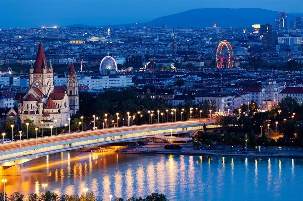 ariel view of vienna austria