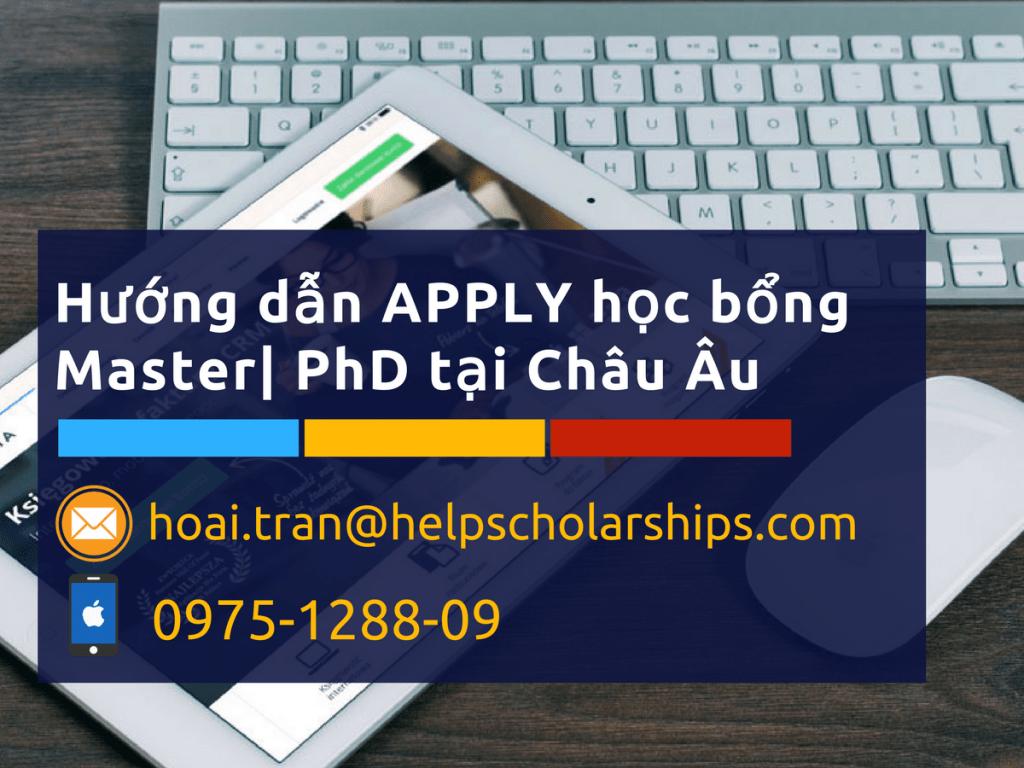 huong dan apply hoc bong Master PhD tai EU
