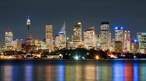 Sydney dưới ánh đèn đêm.