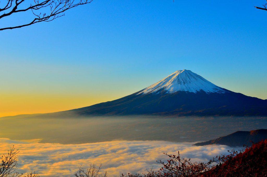 mt fuji sea of clouds sunrise 46253