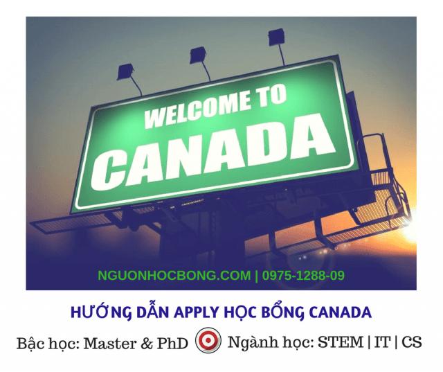 Học bổng toàn phần du học Canada