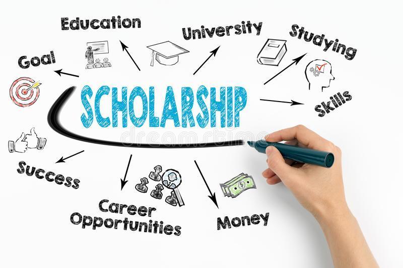 scholarship concept chart keywords icons white background scholarship concept chart keywords icons white 102962768