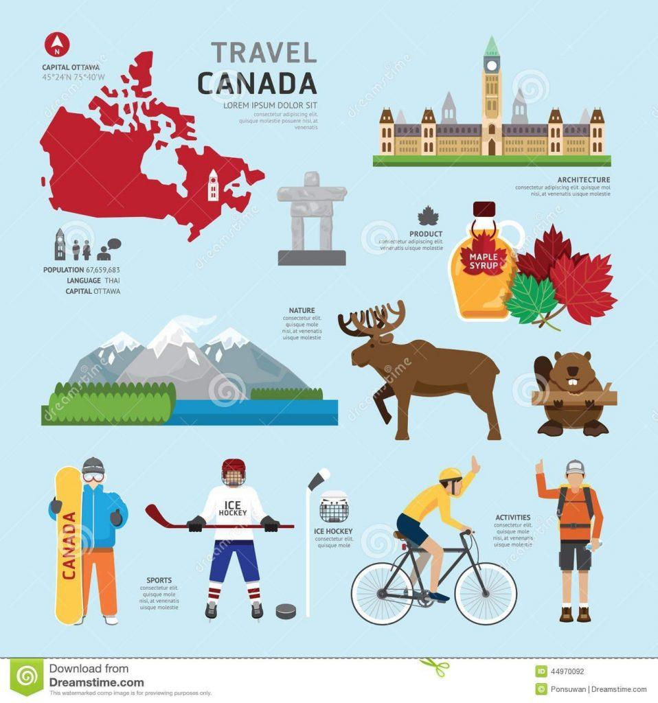 travel-concept-canada-landmark-flat-icons-design-vector-illustration-44970092